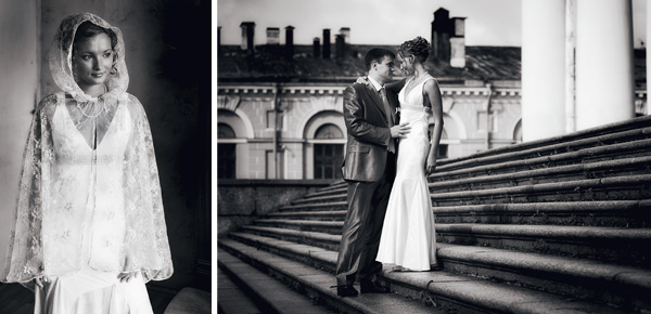 Сергей и Кристина.  Свадебная фотосъемка с дождем